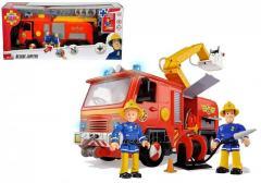 Simba Strażak Sam DUŻY Wóz Strażacki Auto Jupiter + 2 Figurki