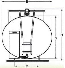 Schładzalnik do mleka ALSC typ eliptyczny
