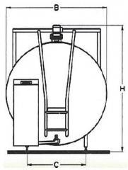 Schładzalnik do mleka ALSC typ okrągły