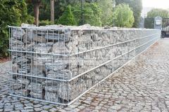 Gabion 0,40x2,50m Gabiony Gabionowe kosze z kamieniami