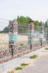 Słupek gabiony wys.1,20m Gabionowe Gabiony Ogrodzenie Kosze z kamieniem