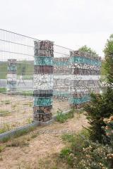 Gabion Słupek 140cm kosze gabionowe ogrodzenie dekoracyjne z kamieniem