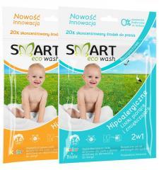 Smart ecowash ekologiczny detergent do prania w formie listków 14 prań (50 g)