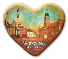Magnes na lodówkę Warszawa serce