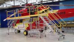 Podesty obsługowe dla śmigłowców i samolotów