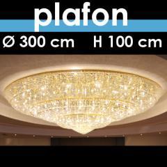Plafon kryształowy średnica 300 cm, wysokość 100 cm