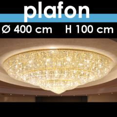 Plafon kryształowy o śr 400 cm, wys 100 cm