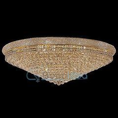 Plafon kryształowy złoty NORMAN średnica 120 cm