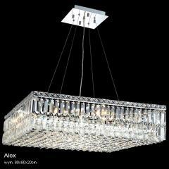 Żyrandol kryształowy nowoczesny 80 x 80 cm Alex