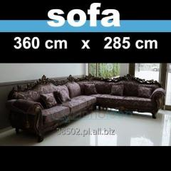 Elegancka kanapa duża sofa narózna 360 x 285 cm