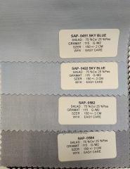 Tkanina koszulowa Twill  ,  Skład 75% Bawełna 25 % Poliester , Wykończenie tkaniny Easy Care