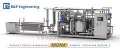 System filtracji aseptycznej MONA (eliminacja bakterii Alicyclobacillus)