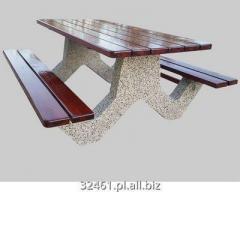 Stół betonowy piknikowy rekreacyjny z 2 ławkami SŁ 013