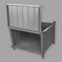 Pojemnik magazynowy składany wykonany z metalu