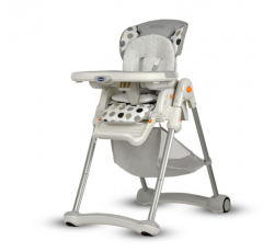 Funkcjonalne krzesełko do karmienia BRAZZI z hamowanymi kólkami