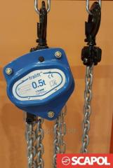 Wciągnik ręczny łańcuchowy, rug-cug, Tralift Tractel 500kg