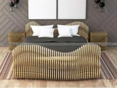 Parametryczne drewniane łóżko