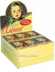 Сukierki z Rosji, czekolada Alionka