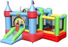 Надувной замок с бассейном для мячей