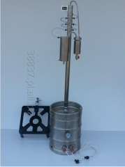 Flavored vodka distillation column, water-cooled
