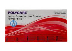 Latex gloves without powder POLYCARE
