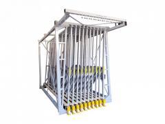 Книжный шкаф выдвижной для стеклопакетов M80-10 p