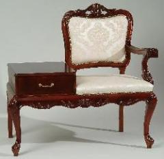 Fotel-stolik pod telefon