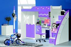 Łóżko piętrowe dla dzieci biurko szafa MARCO POLO