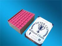 Kreda bilardowa SilverCup czerwona 144 kostki