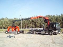 Lorries of especially big load capacity