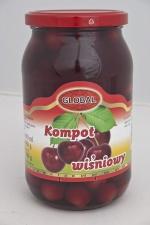 Kompoty owocowe wiśniowy 0,900 l