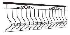 Balustrady kute - zewnętrze