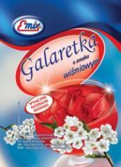 Galaretka o smaku wiśniowym żelatynowa