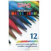 Kredki bezdrzewne PROGRESSO KOH-I-NOOR 12 kolorów