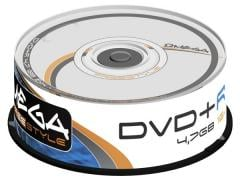 Płyty DVD+R OMEGA FREESTYLE 4,7 GB 16X CAKE BOX 25