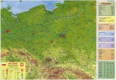 Fizyczna mapa Polski. 160x120cm