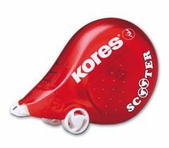 Korektor w taśmie, Scooter 5m x 4,2 mm, czerwony;