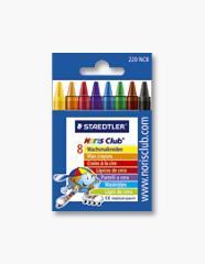 Kredki woskowe zestaw 8 kolorów w kartonowym