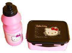Bidon + Śniadaniówka w zestawie Hello Kitty