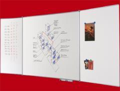 Tablica szkolna biała składana (tryptyk) 340x100 cm.