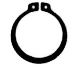 Pierścienie osadcze sprężynujące zewnętrzne