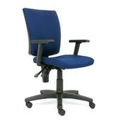 Krzesło Nowy Styl Metron mechanizm 2 - dźwigniowy splot szaro - czarny cu-73