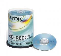 CD TDK 700MB 80MIN 52xSpeed (Cake 100szt)