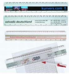 Business Liniał z reklamą