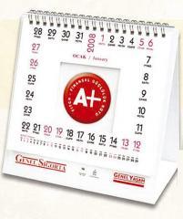 12-kartkowy kalendarz