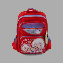 Czerwony plecak szkolny dla dziewczynki