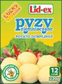 Pyzy ziemniaczane LID-EX LUCKY FOODS