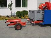 Wyposażenie kombajnu w podest rolkowy z wózkiem