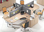 System przegród biurowych