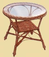 Stół okrągły z szybą